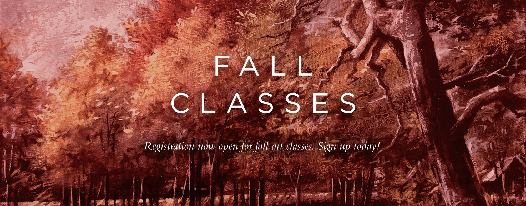New Fall Schedule – Registration Now Open!