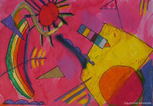 Elsa Wang  7 yrs (Kandinsky Shapes)