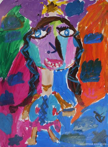 Frances Yu  7 yrs (Self-Portrait)