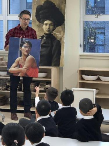 AOMA instructor visits St. John School (Click for more)